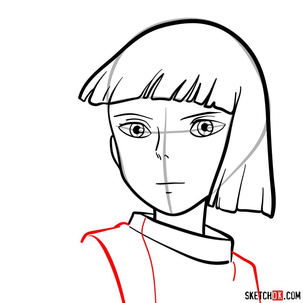 How to draw Haku (Spirited Away) - step 08