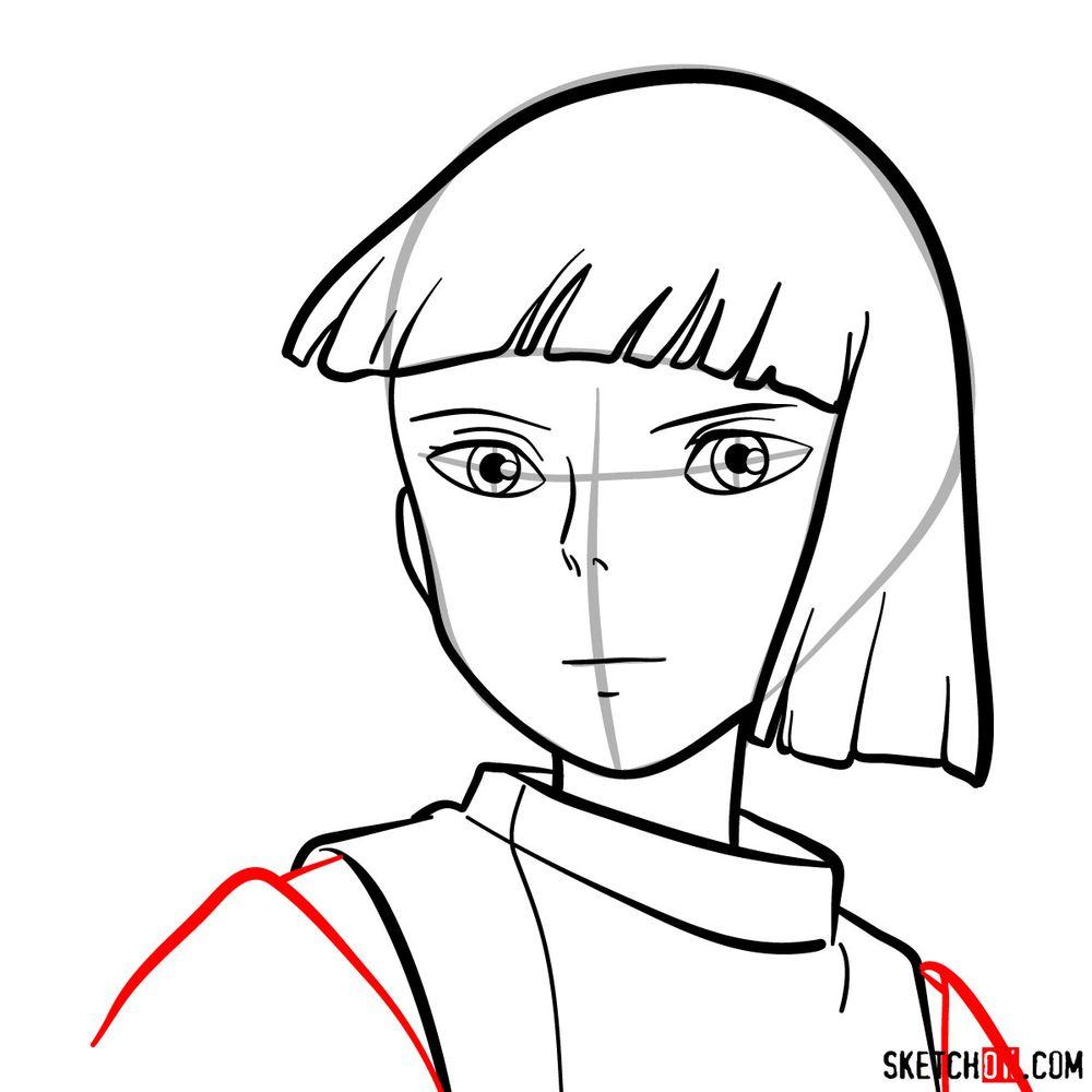 How to draw Haku (Spirited Away) - step 09