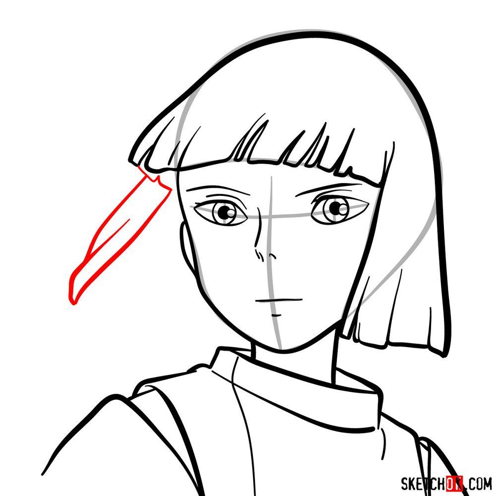 How to draw Haku (Spirited Away) - step 10