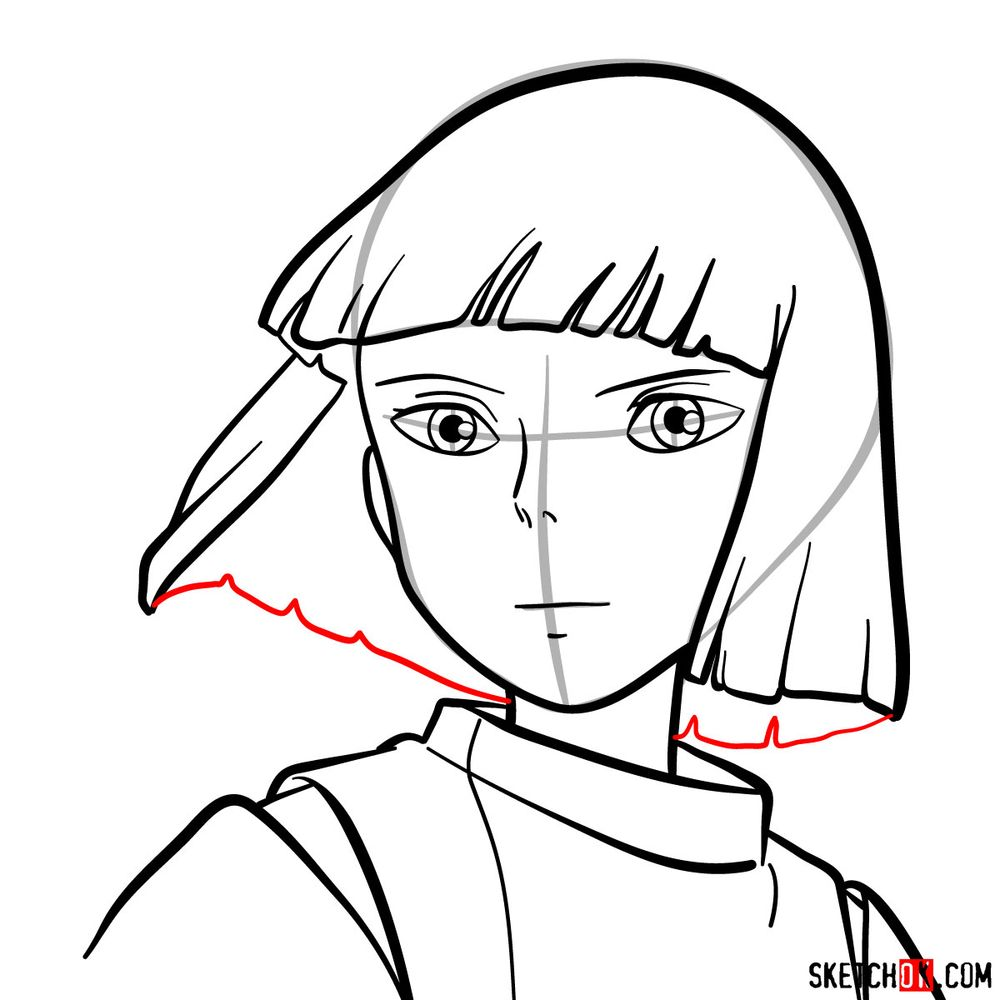 How to draw Haku (Spirited Away) - step 11