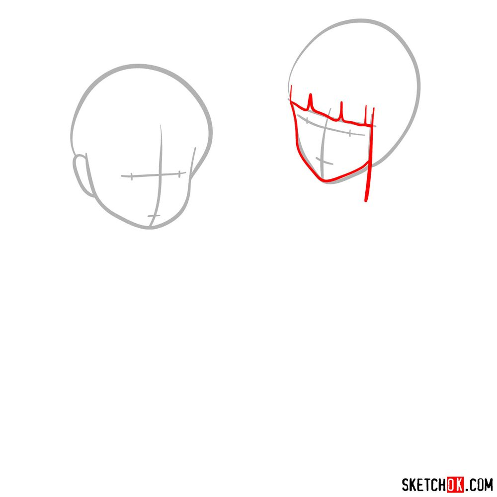 How to draw Haku and Chihiro together - step 02
