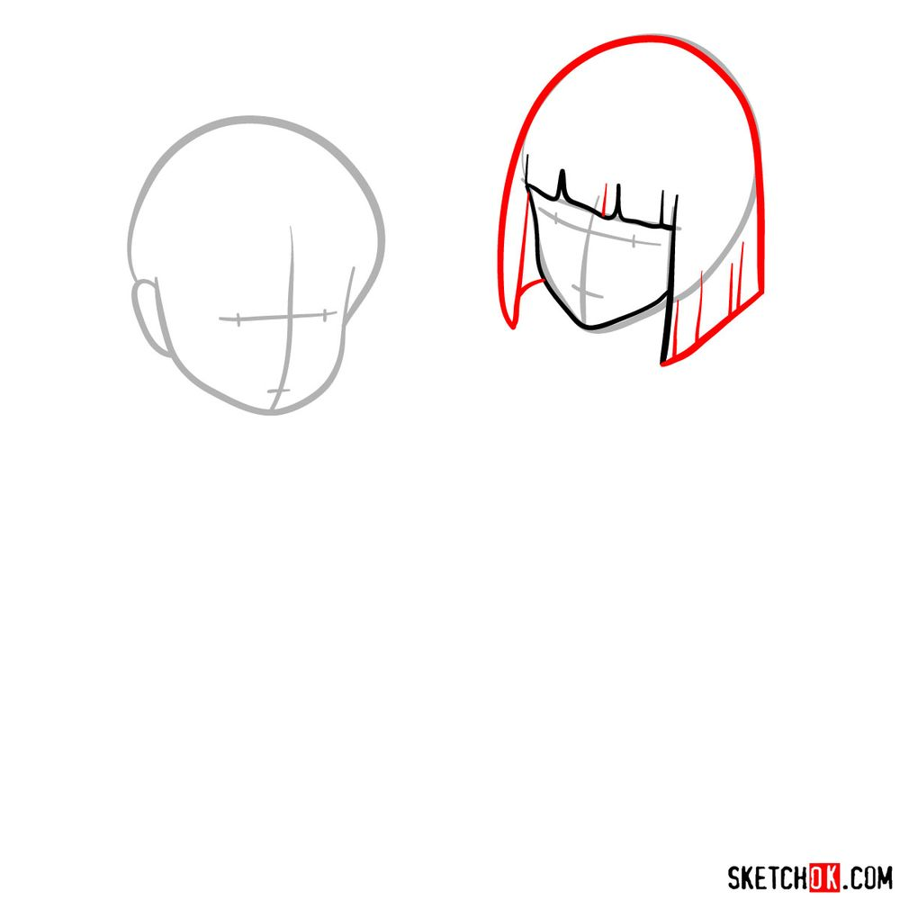 How to draw Haku and Chihiro together - step 03