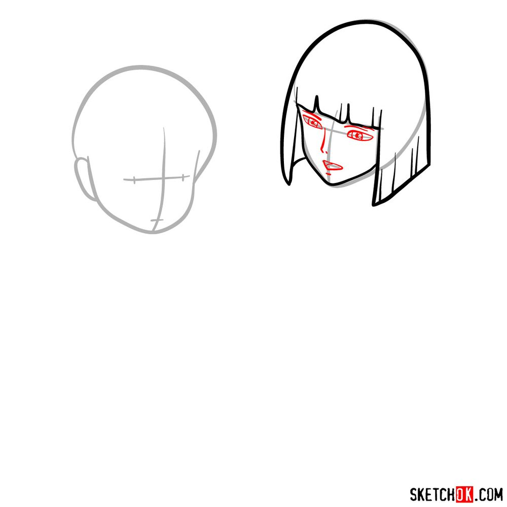 How to draw Haku and Chihiro together - step 04