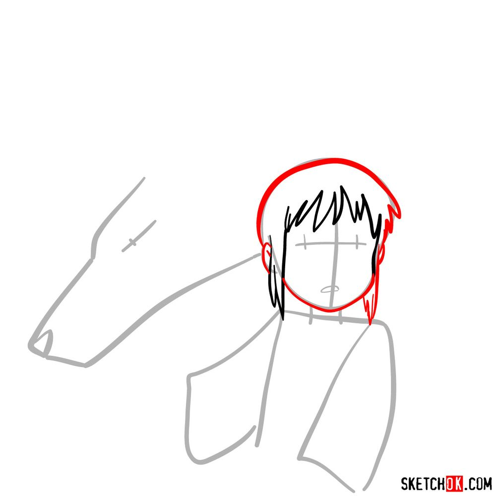 How to draw Chihiro and Haku in dragon form - step 04