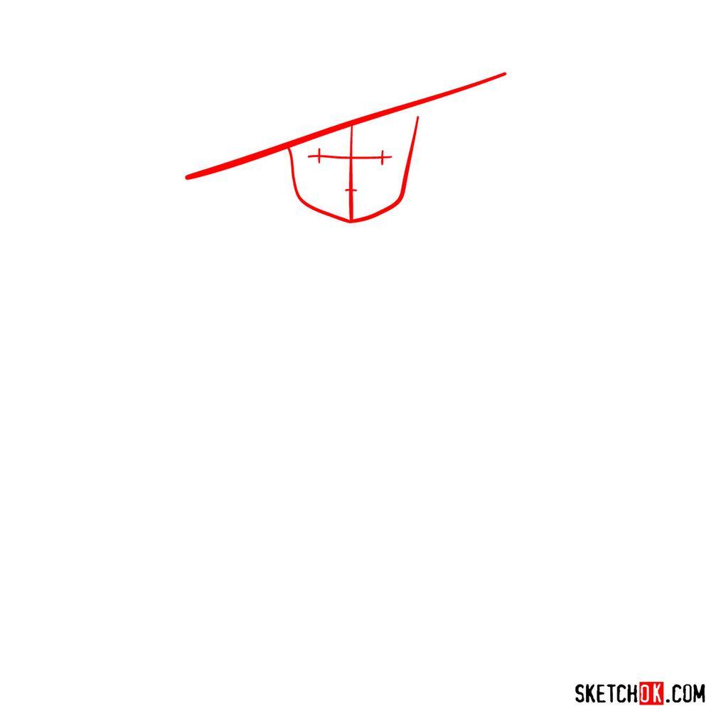 How to draw Setsuko Yokokawa - step 01