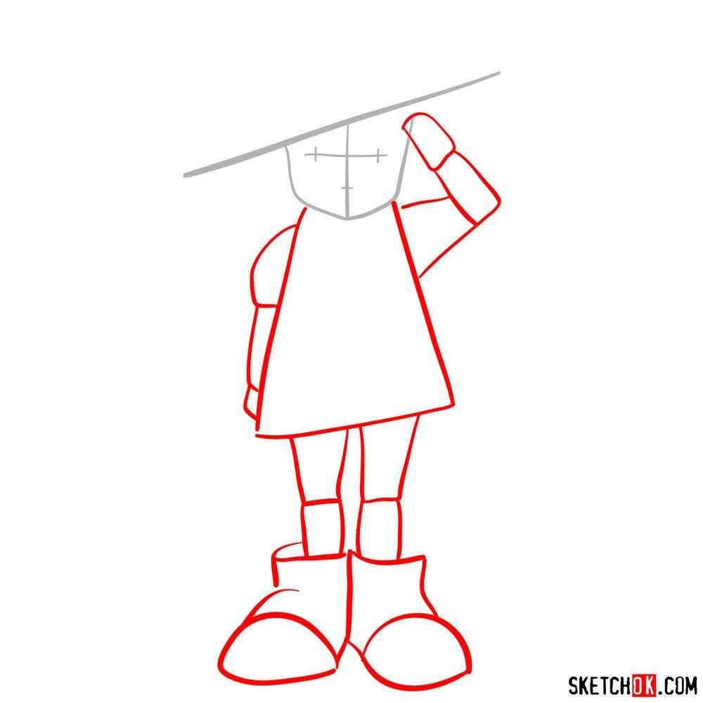 How to draw Setsuko Yokokawa - step 02