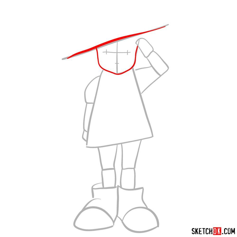 How to draw Setsuko Yokokawa - step 03