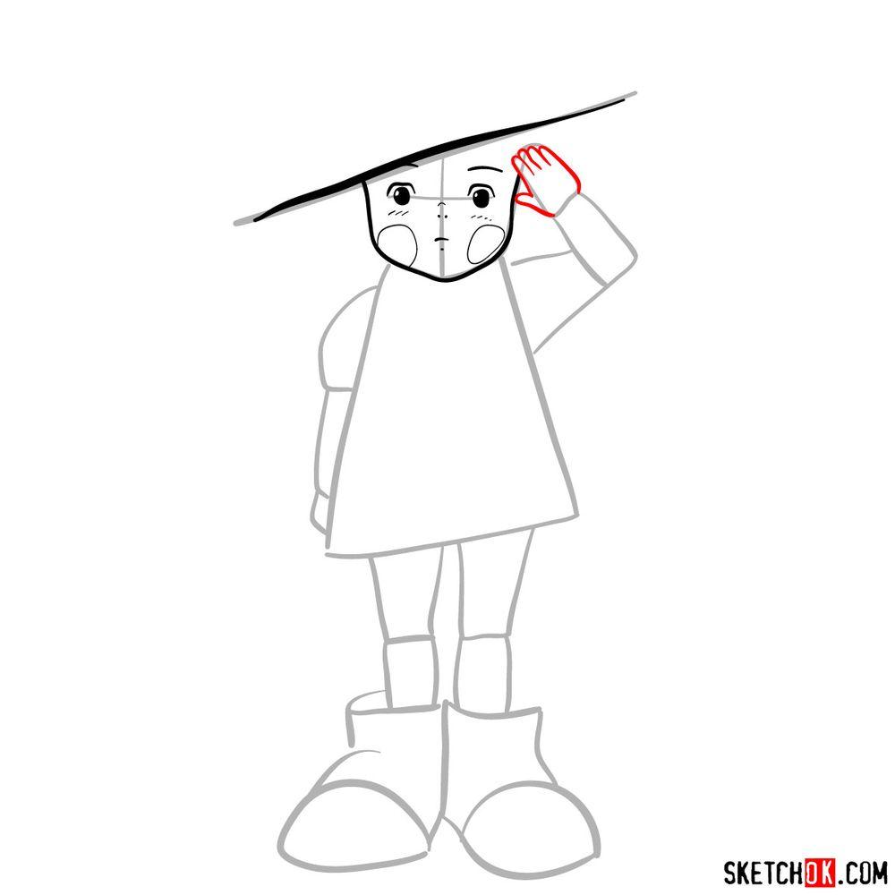 How to draw Setsuko Yokokawa - step 06
