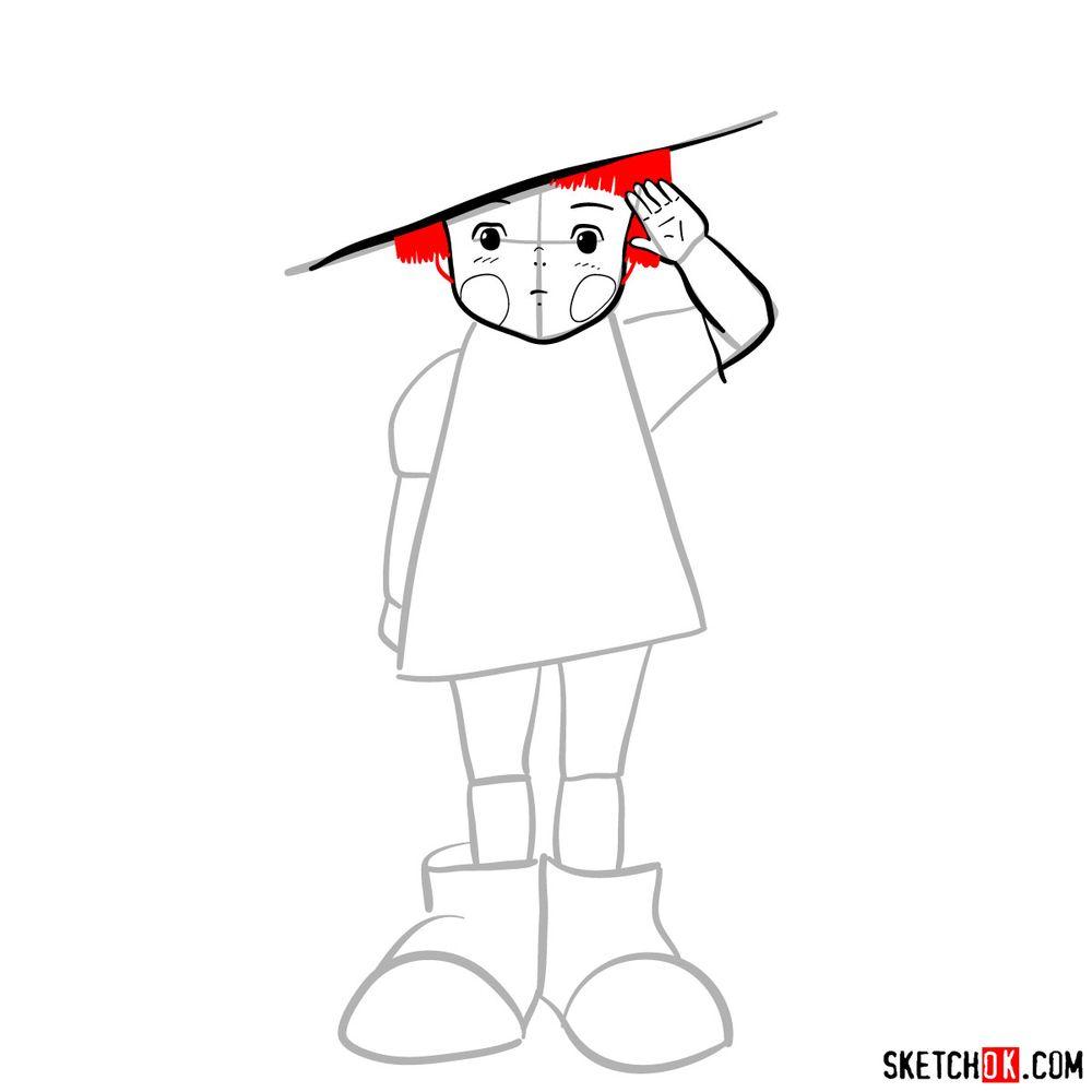 How to draw Setsuko Yokokawa - step 08