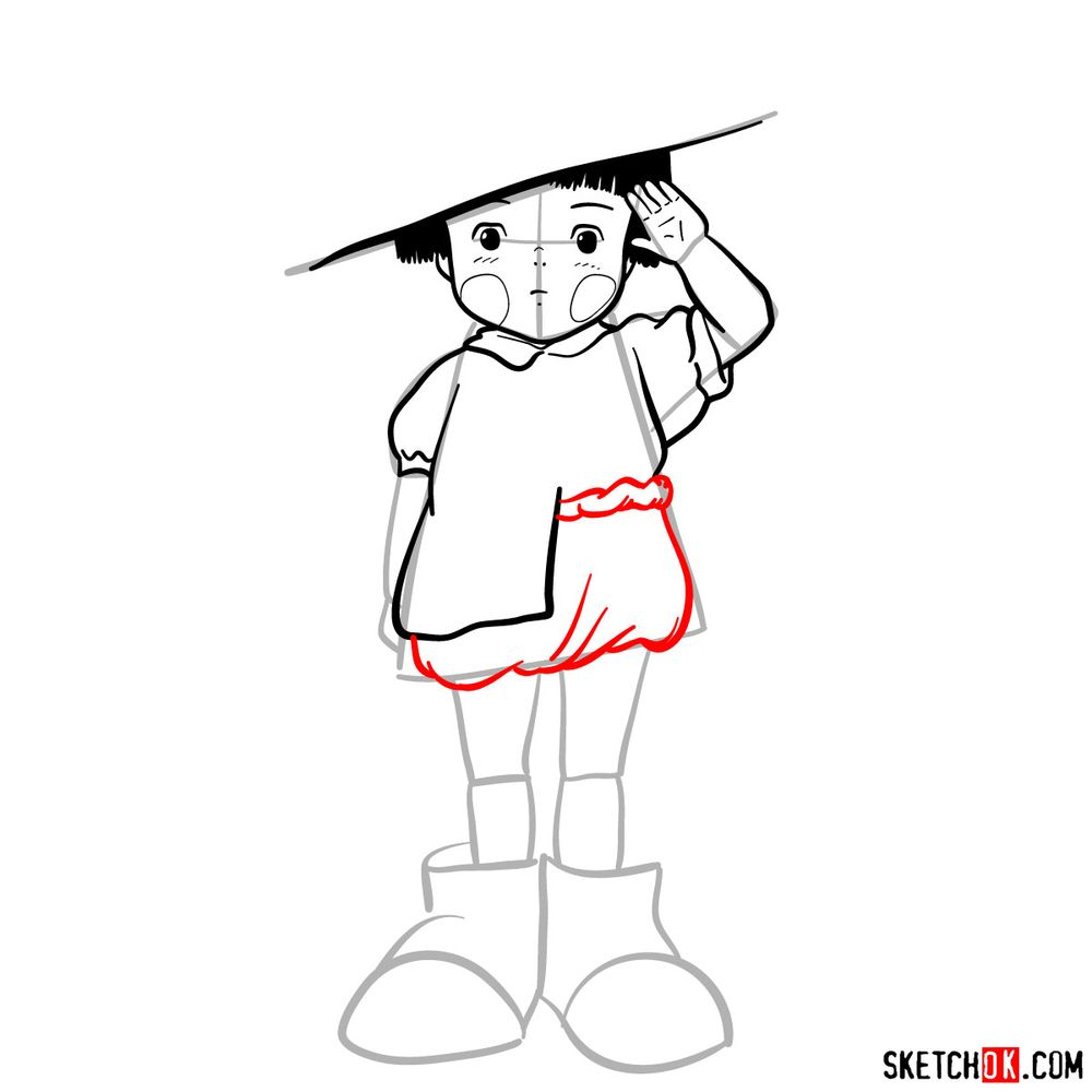 How to draw Setsuko Yokokawa - step 12