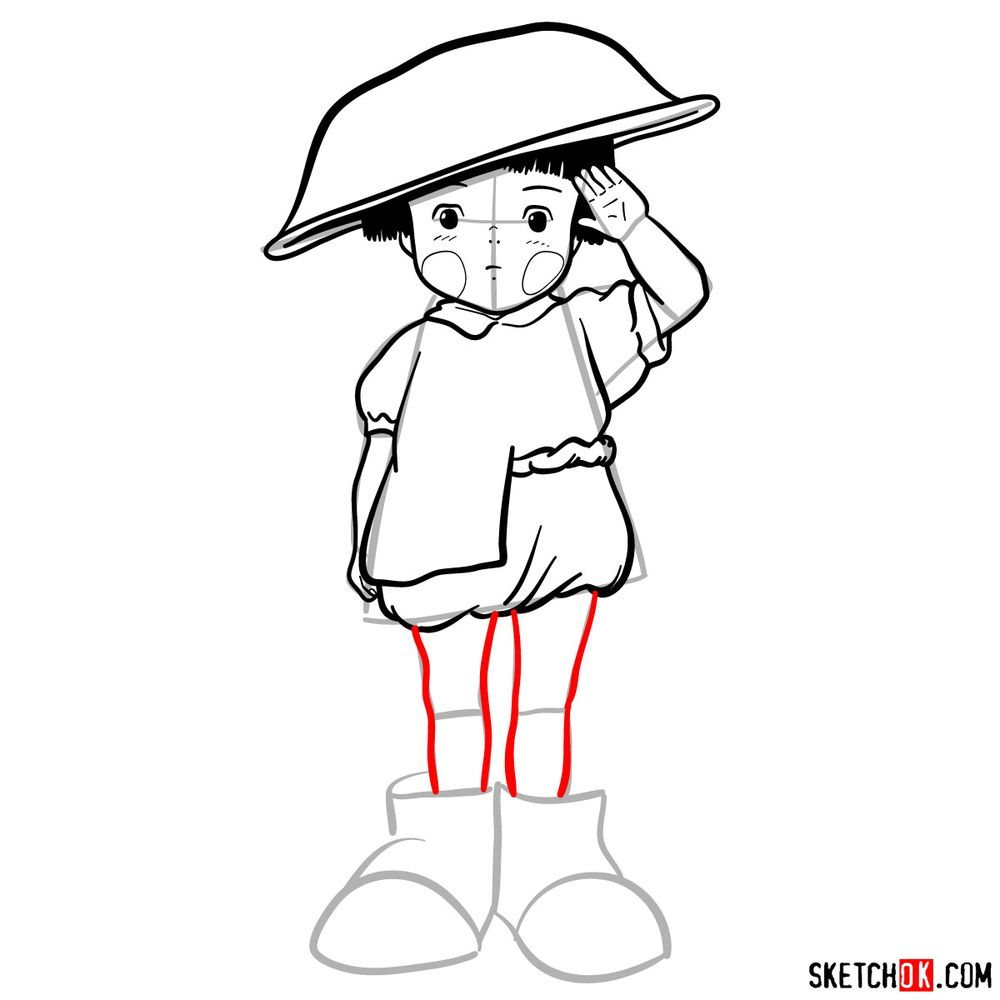 How to draw Setsuko Yokokawa - step 15