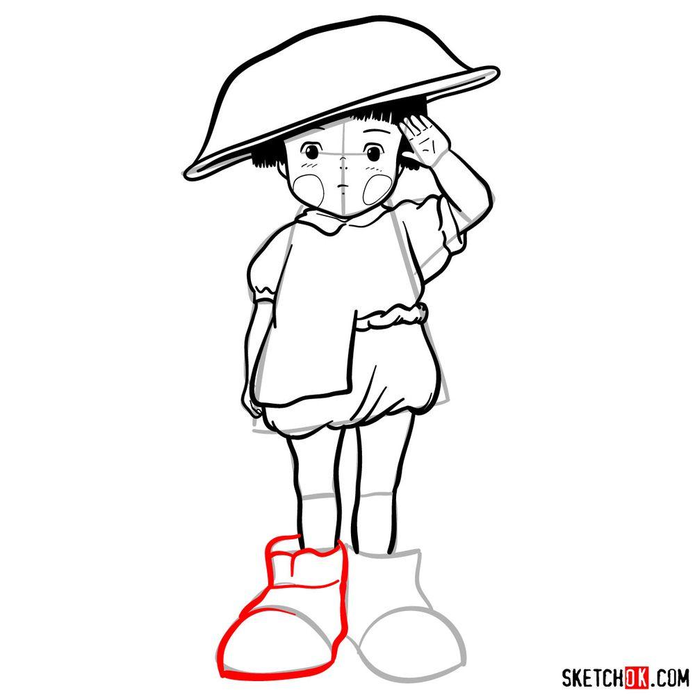How to draw Setsuko Yokokawa - step 16