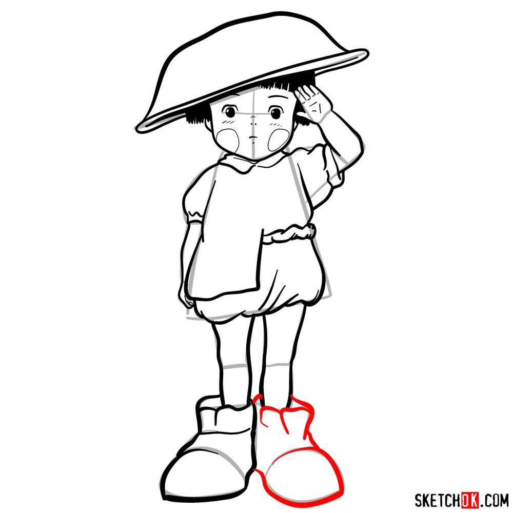 How to draw Setsuko Yokokawa - step 17