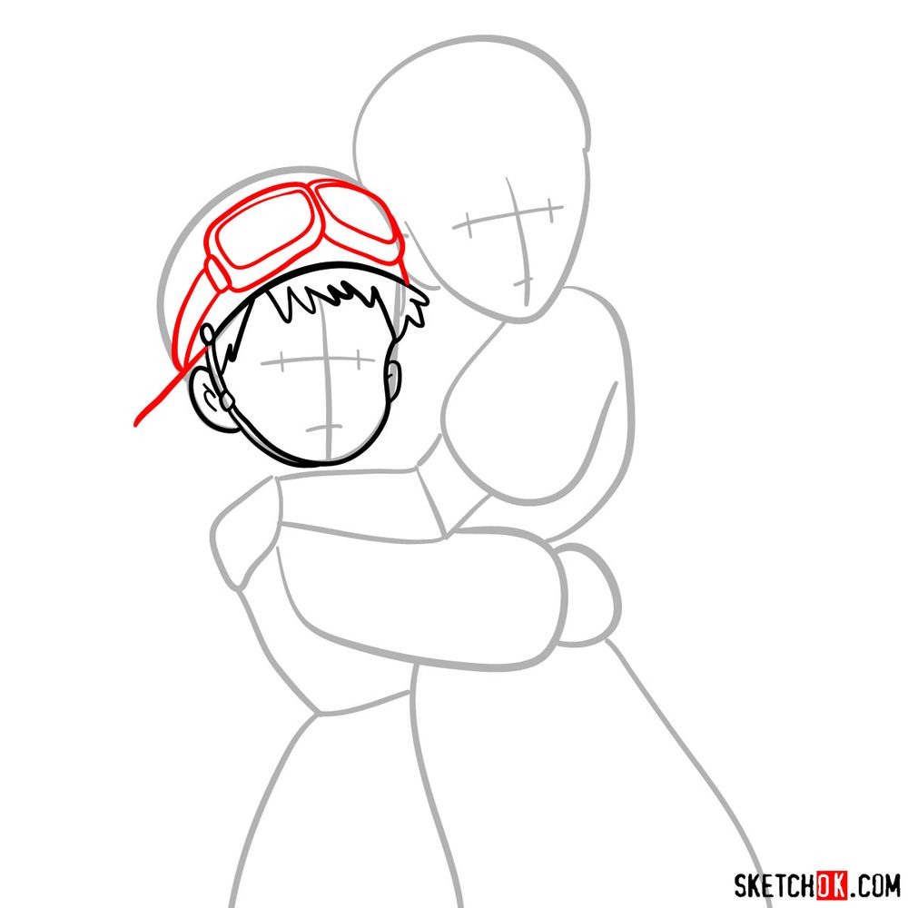 How to draw Sheeta and Pazu together - step 05