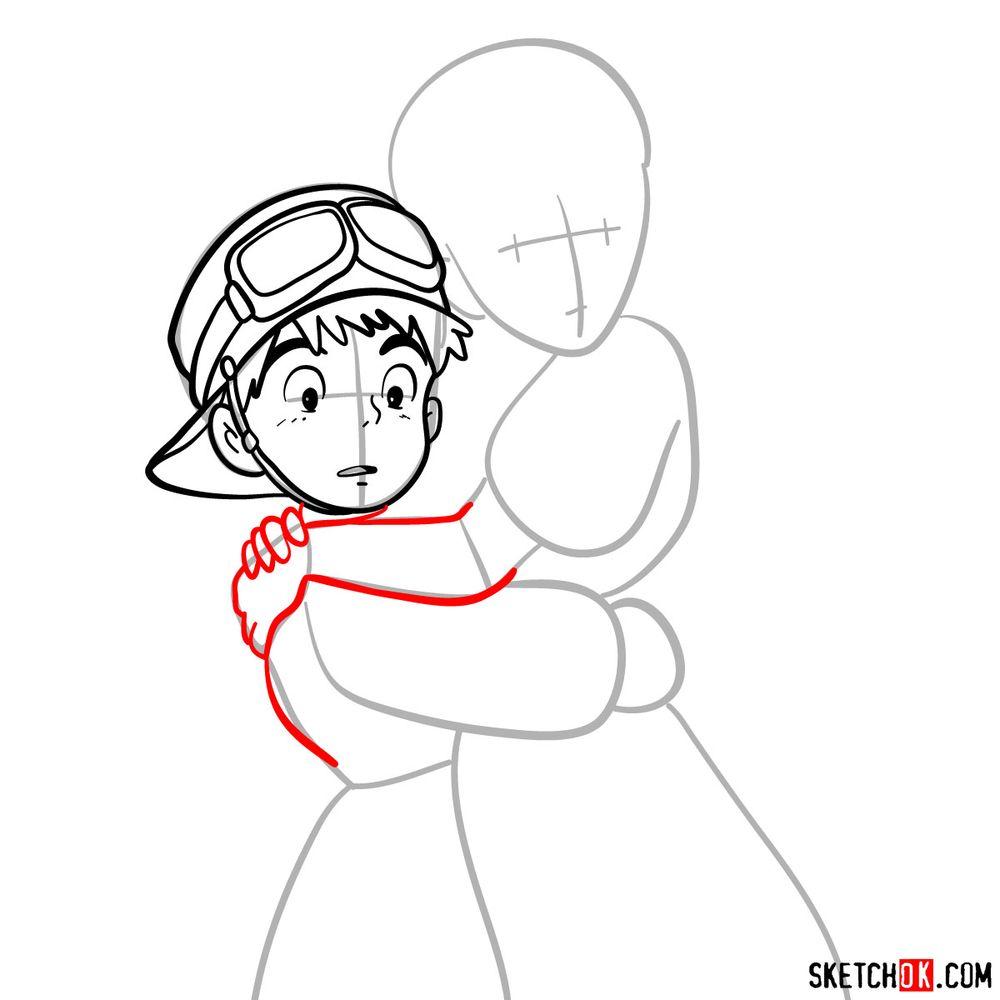 How to draw Sheeta and Pazu together - step 07