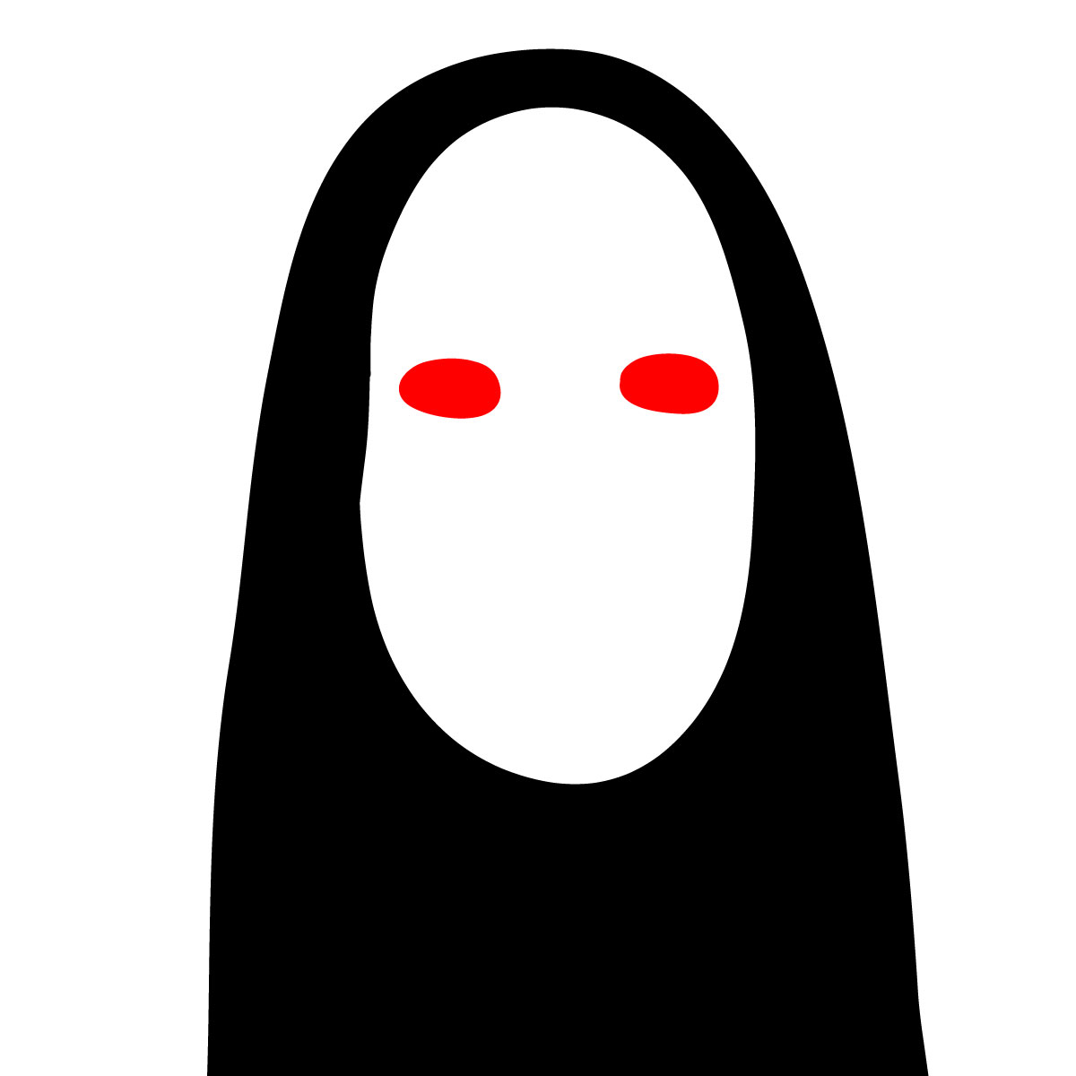 How to draw No-Face's mask - step 03