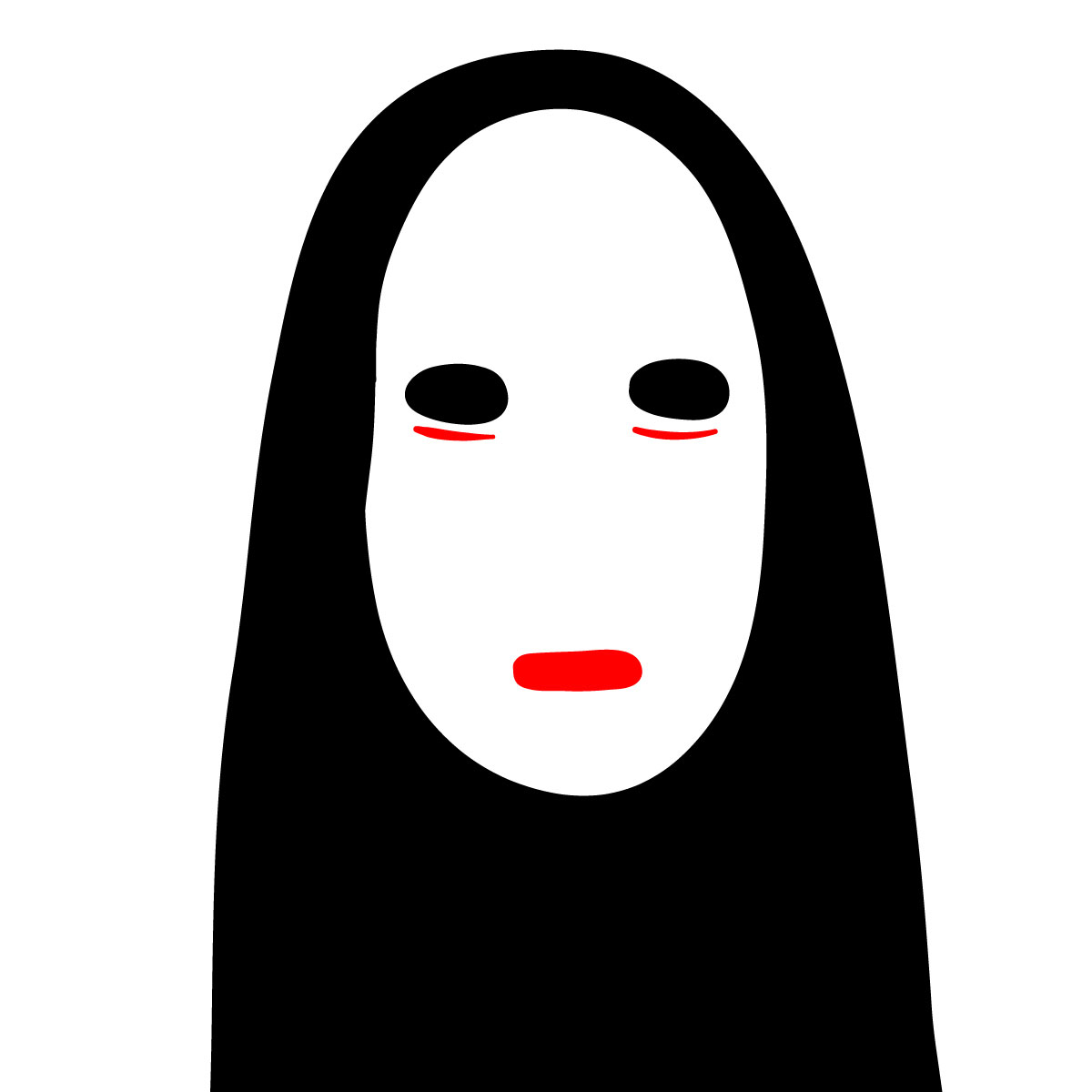 How to draw No-Face's mask - step 04