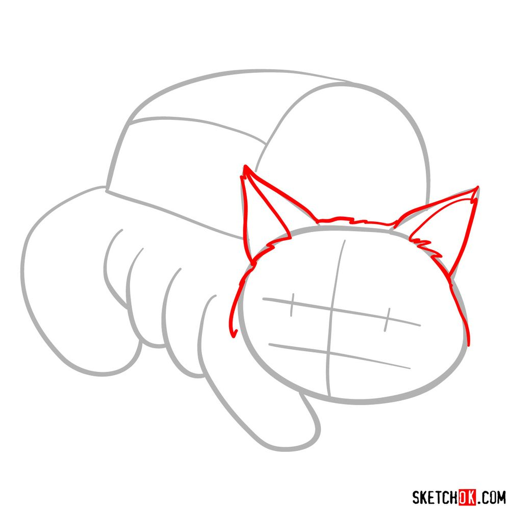How to draw the Catbus - step 03