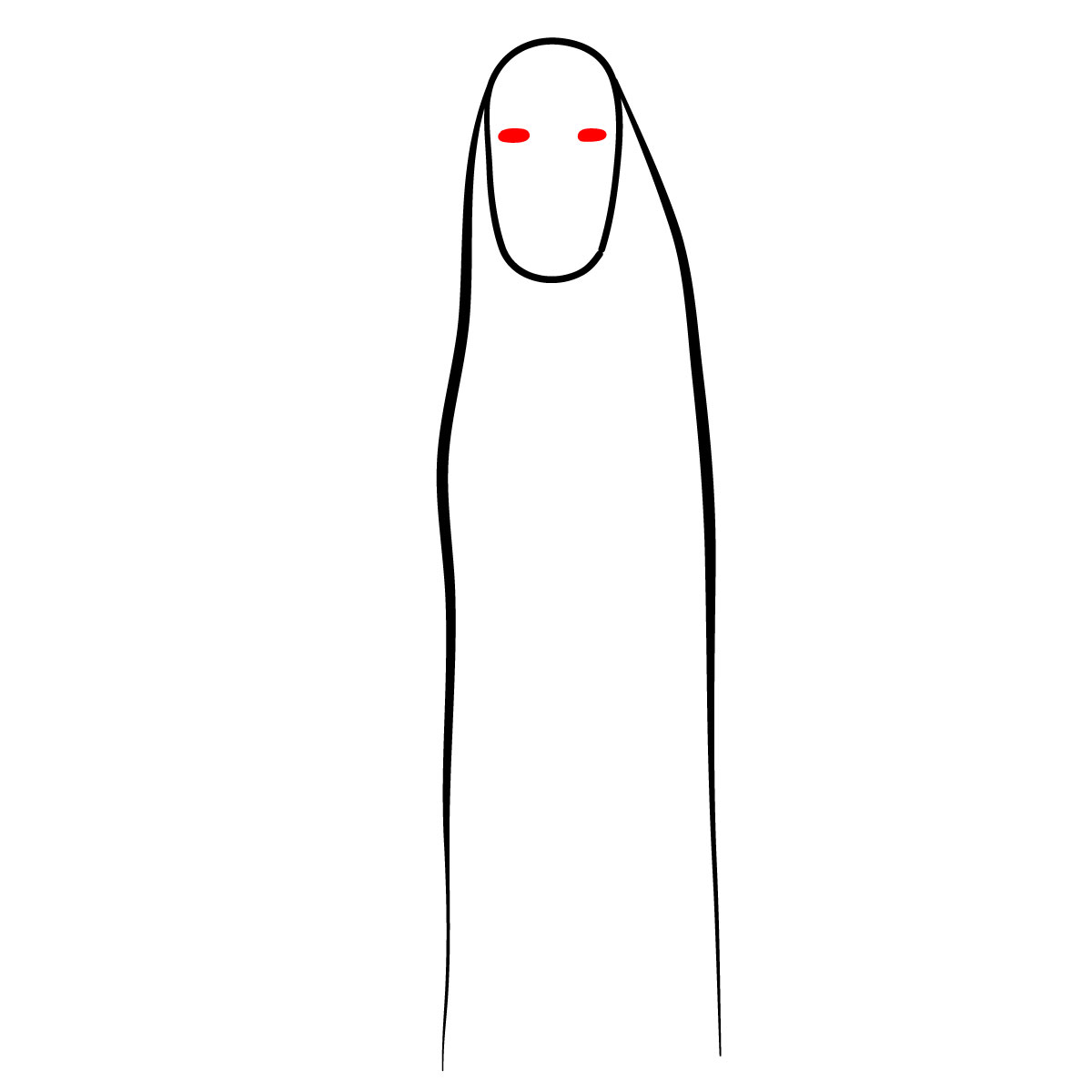 How to draw No-Face - step 03