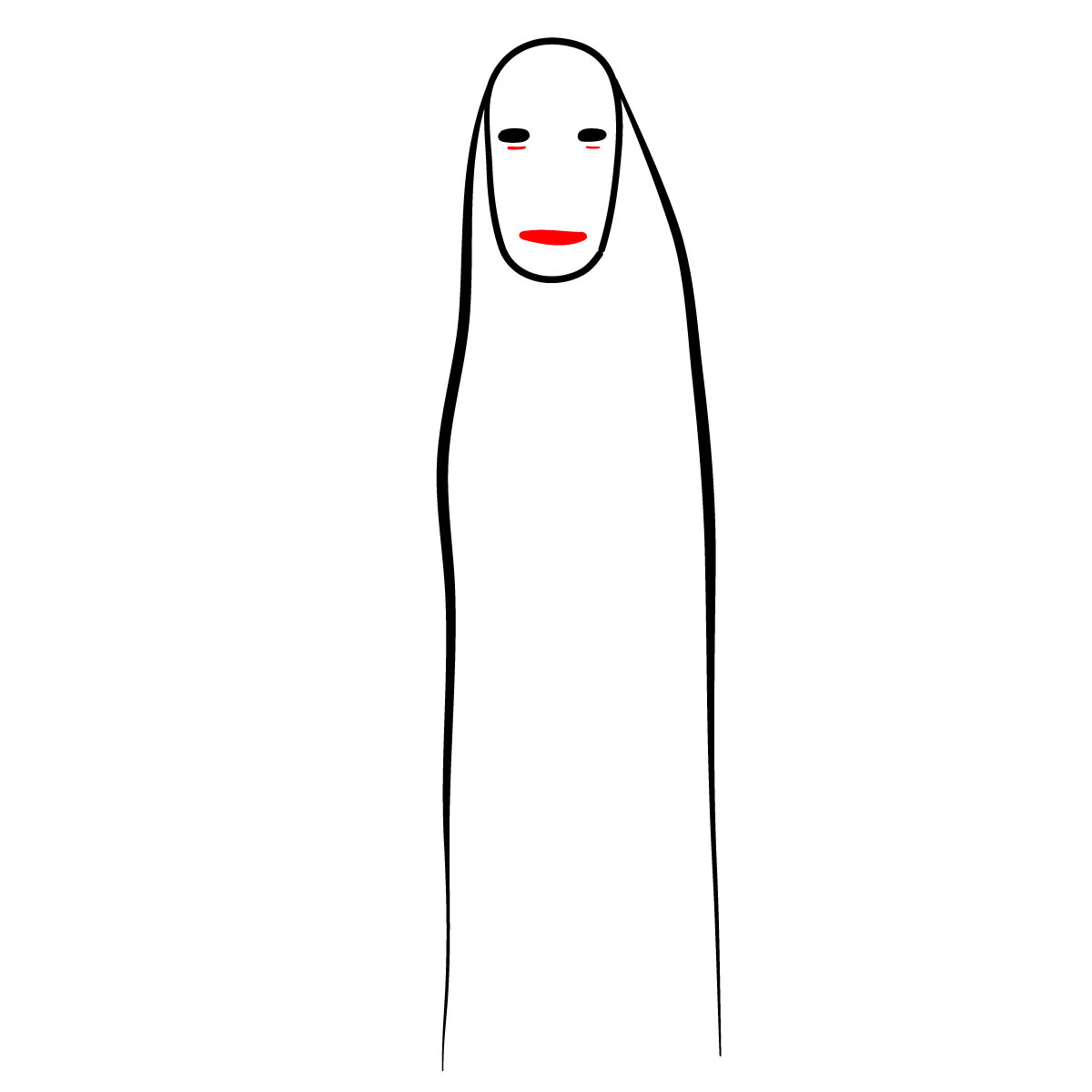 How to draw No-Face - step 04