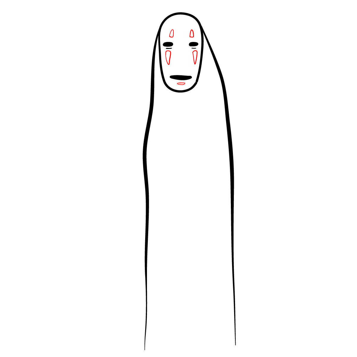 How to draw No-Face - step 05