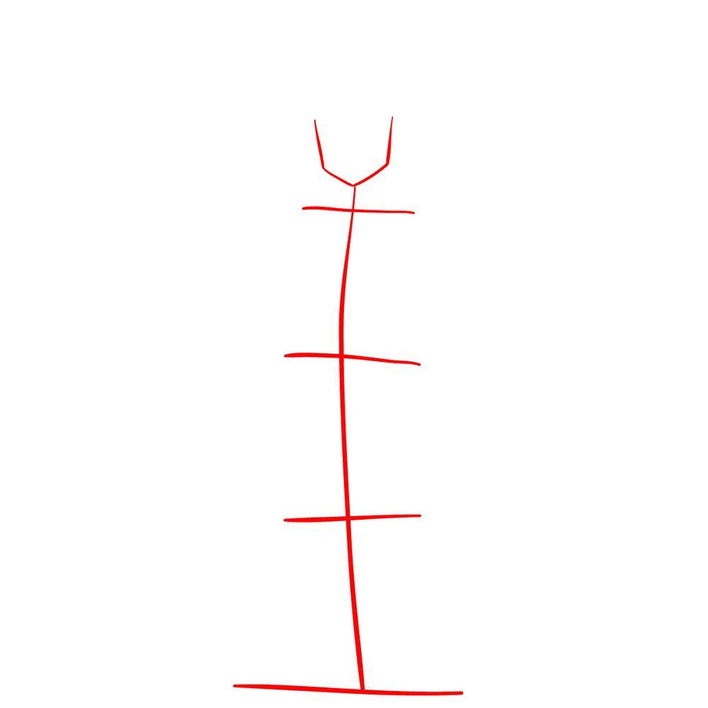 How to draw Meliodas - step 01