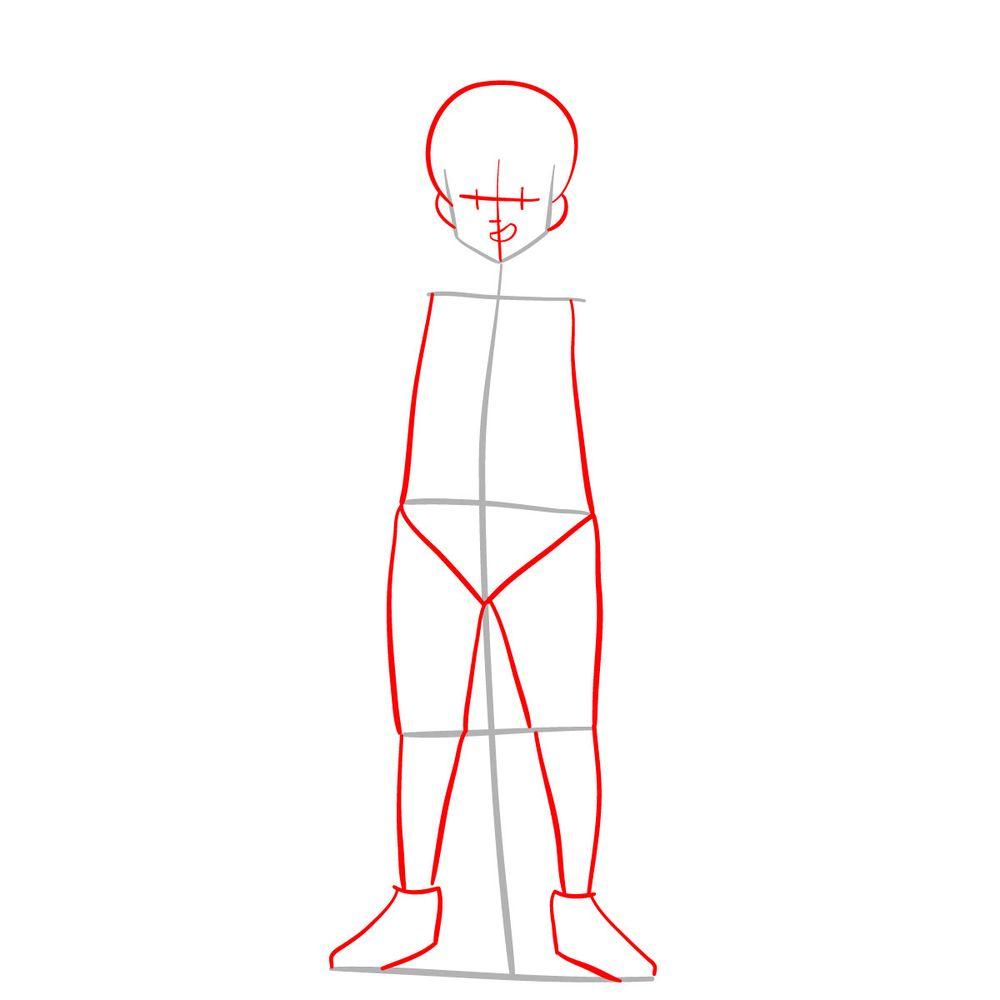 How to draw Meliodas - step 02