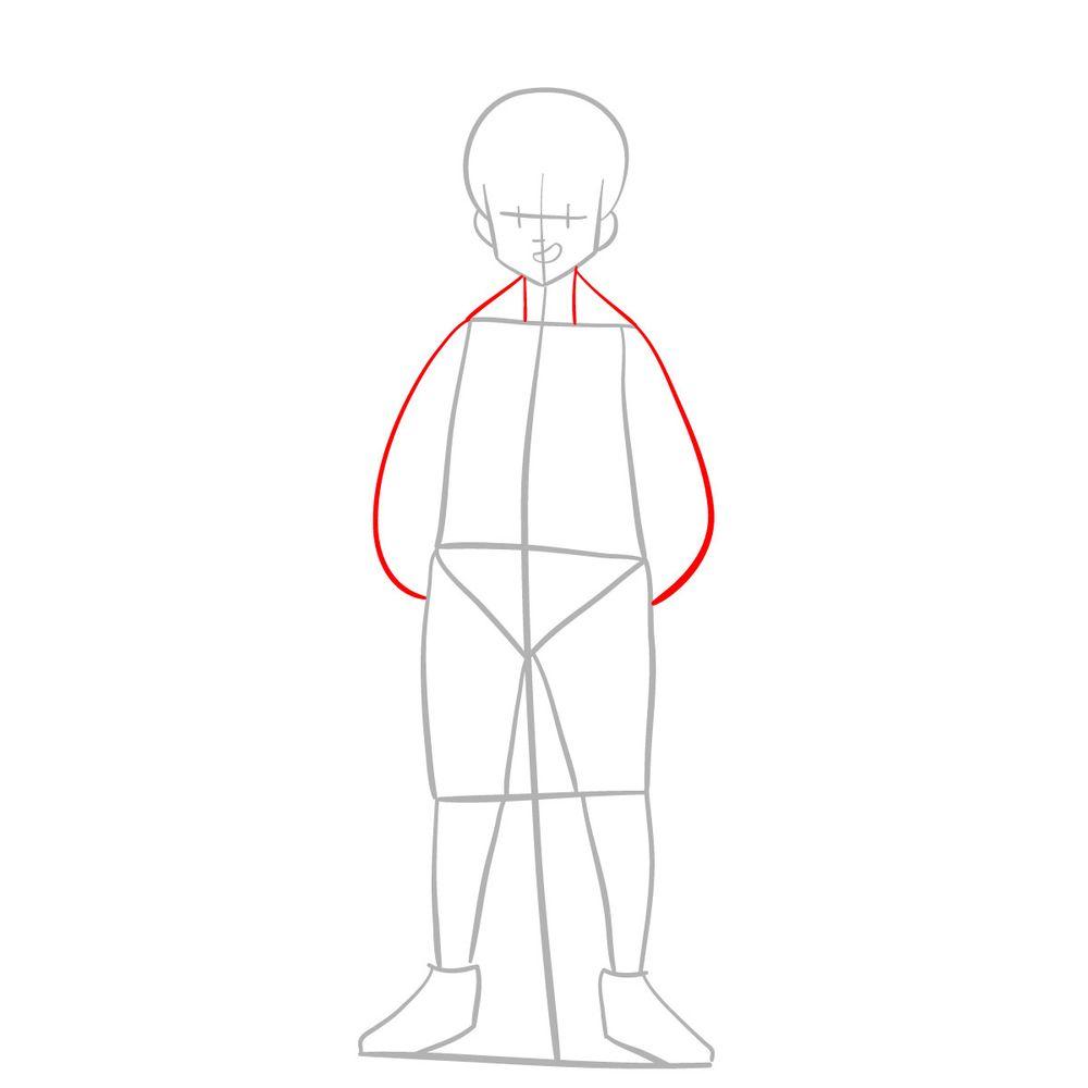 How to draw Meliodas - step 03