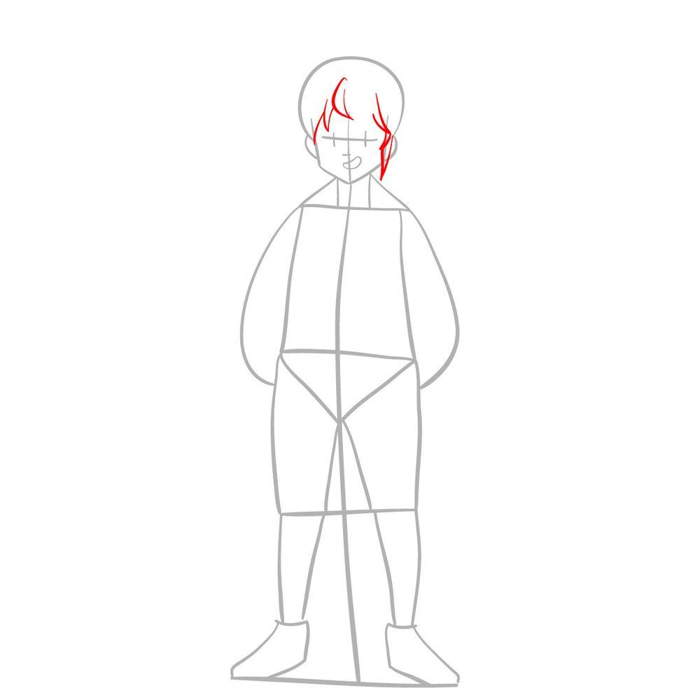 How to draw Meliodas - step 04