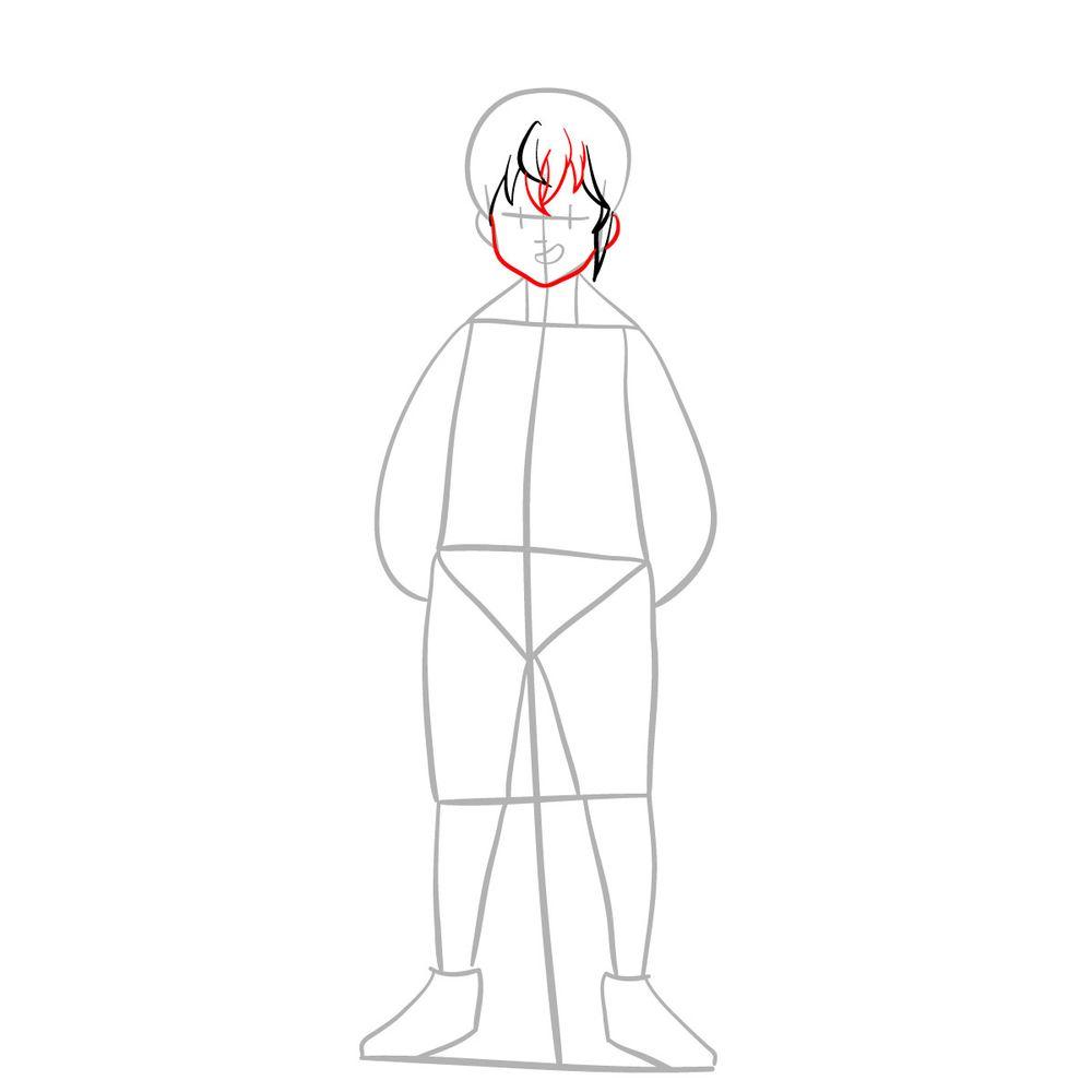 How to draw Meliodas - step 05
