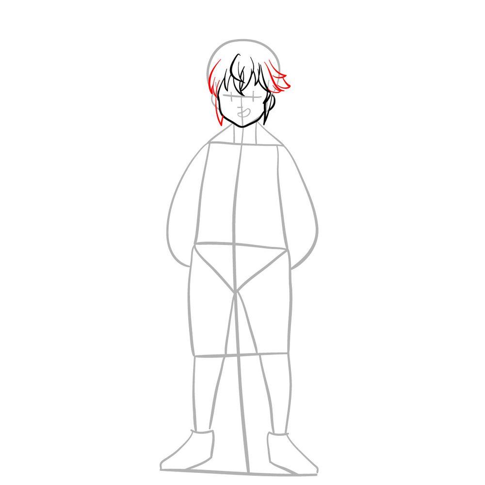 How to draw Meliodas - step 06