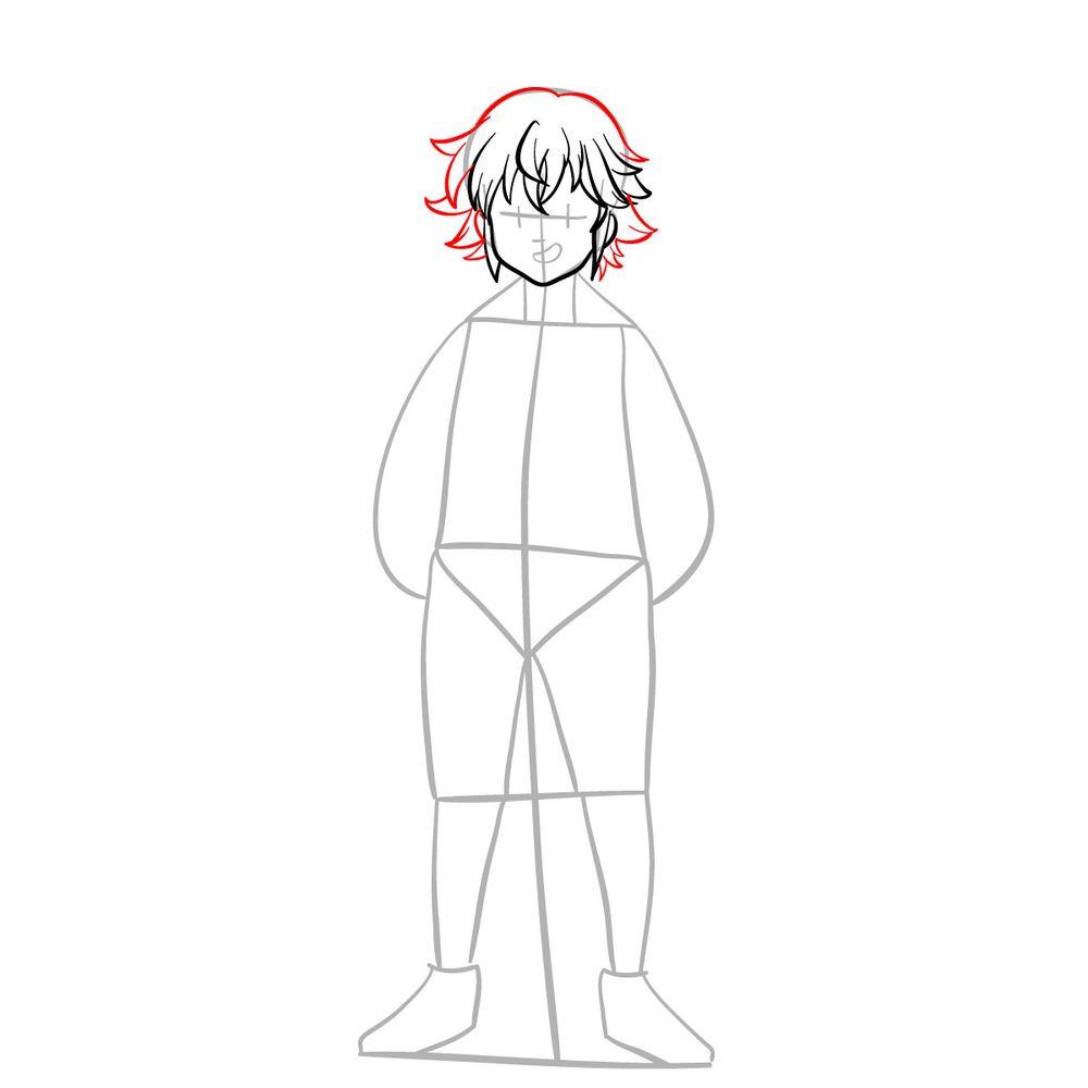 How to draw Meliodas - step 07