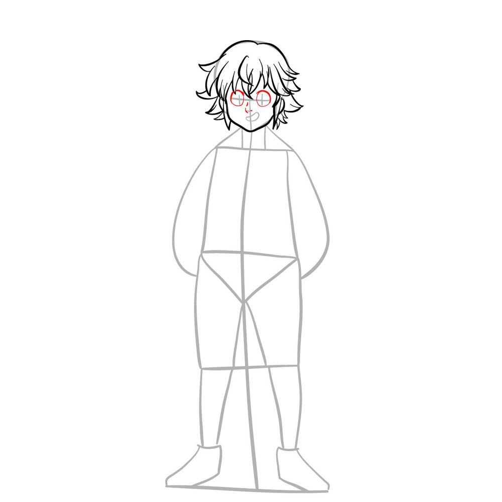 How to draw Meliodas - step 08