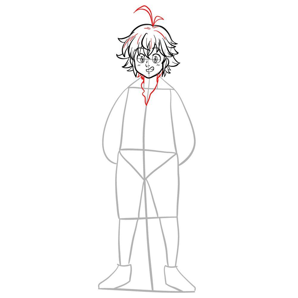 How to draw Meliodas - step 10
