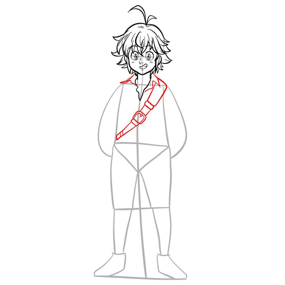 How to draw Meliodas - step 11
