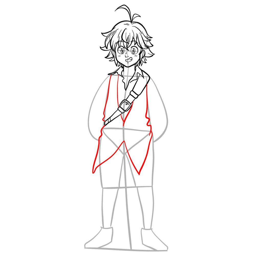 How to draw Meliodas - step 12