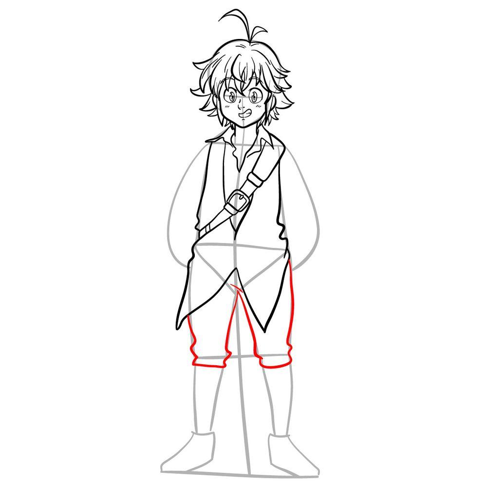How to draw Meliodas - step 13