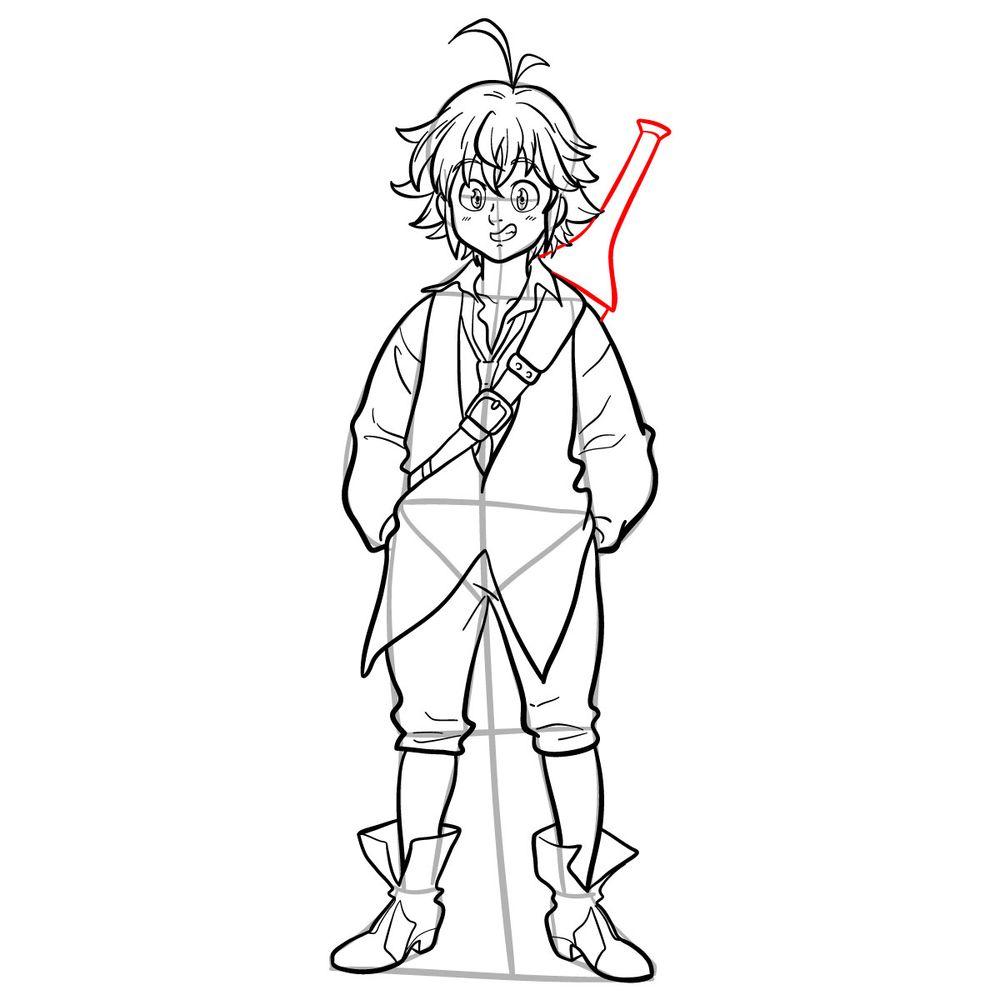 How to draw Meliodas - step 18