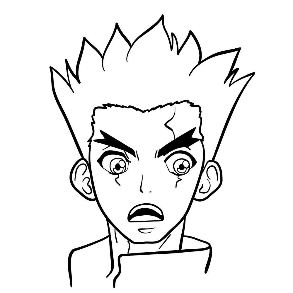 How to draw Taiju Oki's face