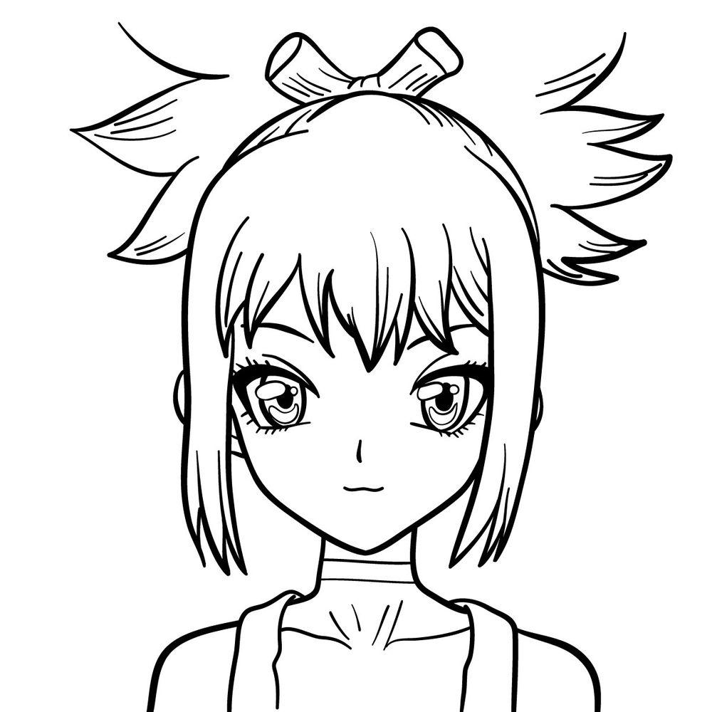 How to draw Kohaku's face