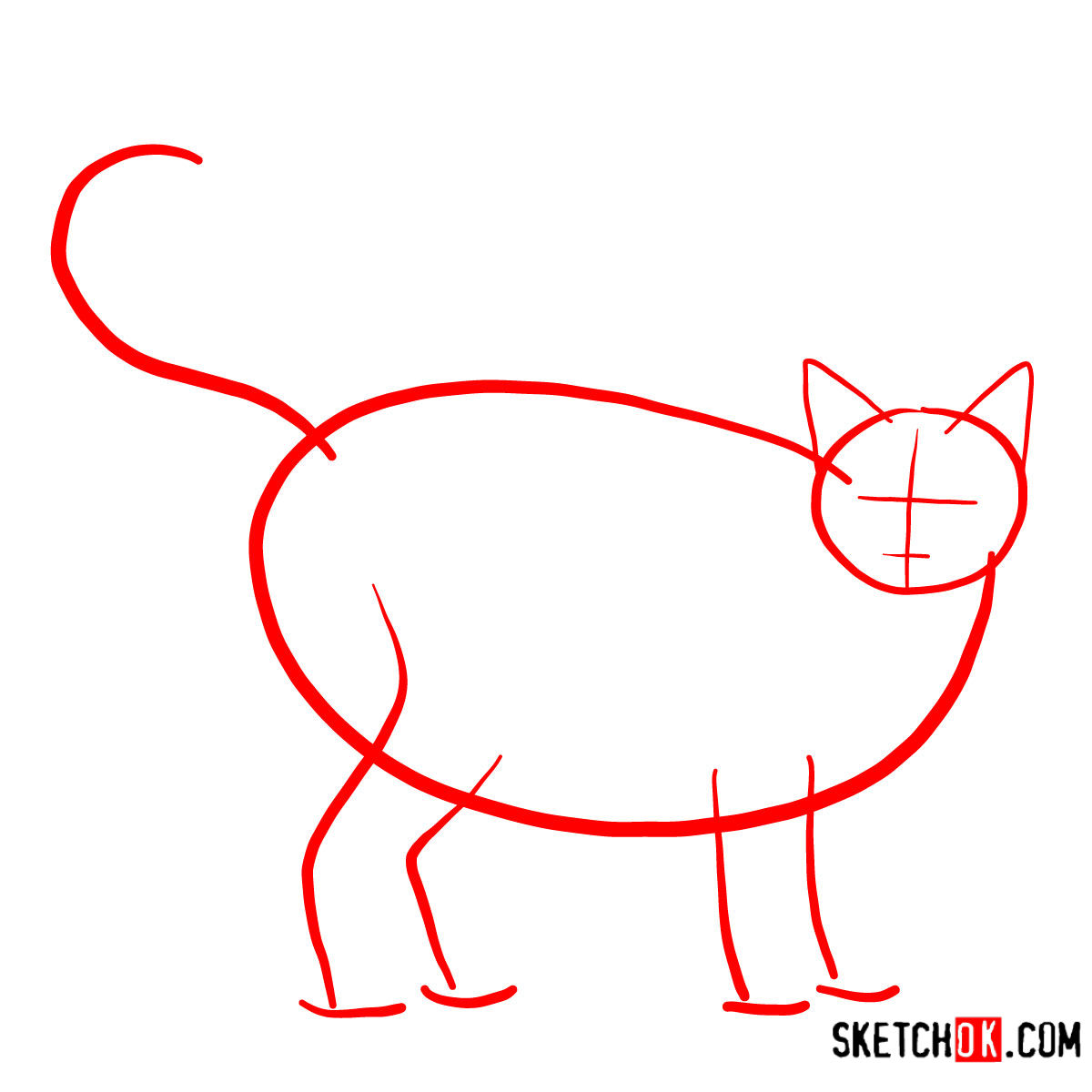 How to draw The Ocicat - step 01