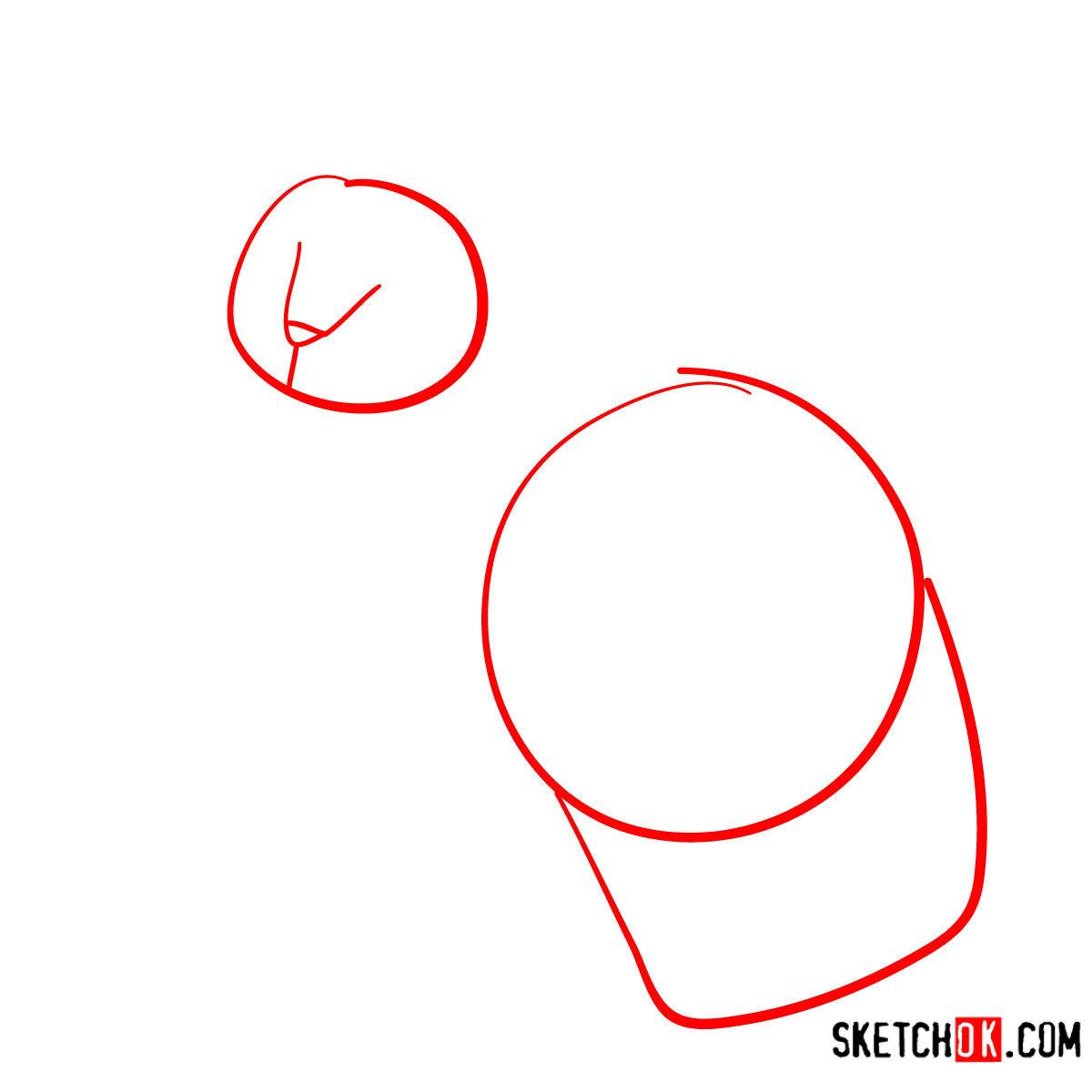 How to draw the Devon Rex cat - step 01
