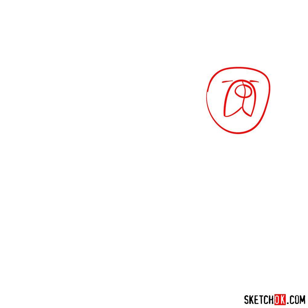 How to draw a Tibetan mastiff - step 01