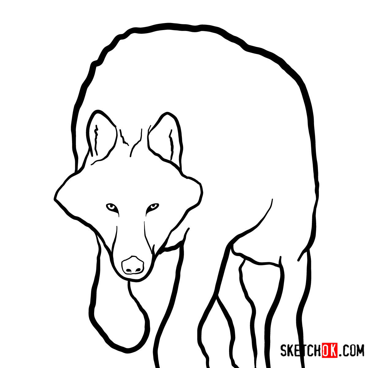 How to draw an Arctic wolf | Wild Animals - coloring