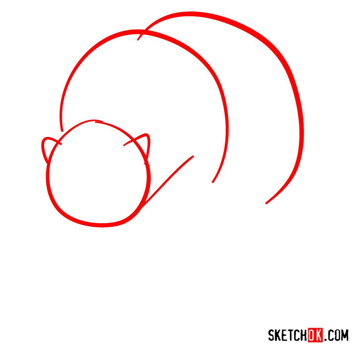 How to draw a polar bear | Wild Animals - step 01