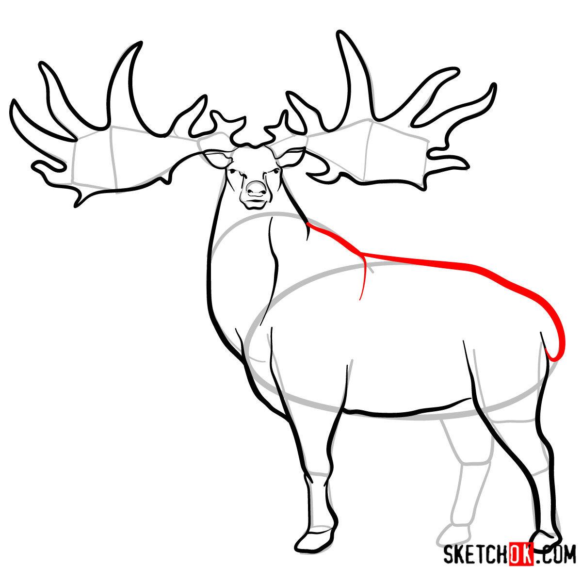 How to draw an Irish elk | Extinct Animals - step 10