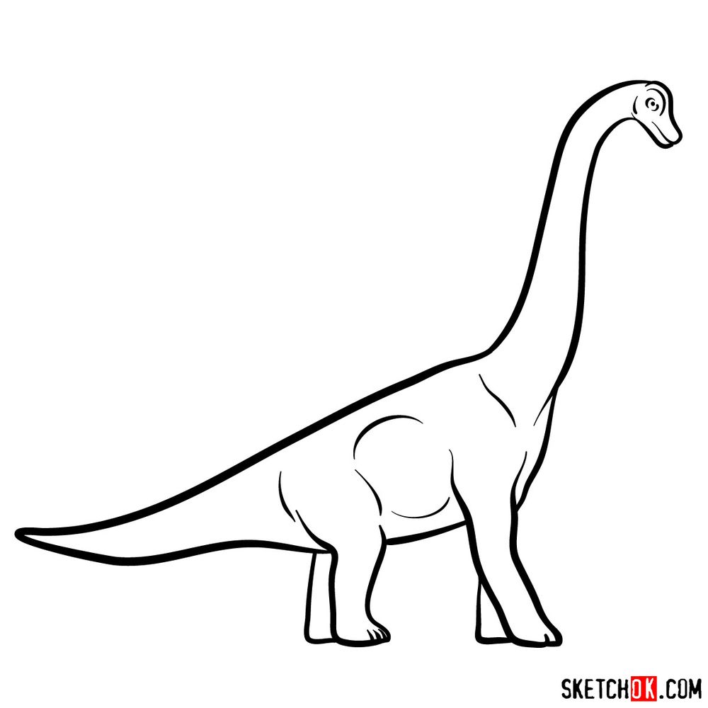 How to draw a brachiosaurus