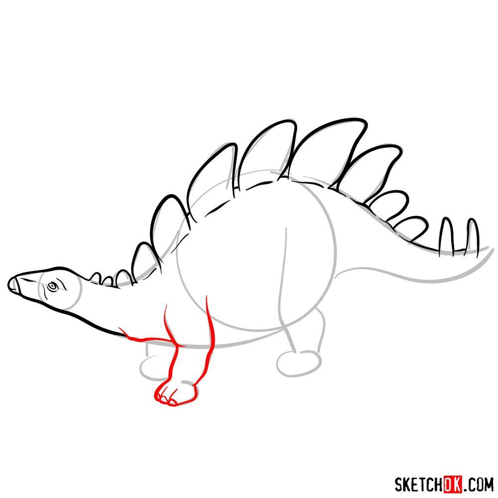 How to draw a stegosaurus - step 06