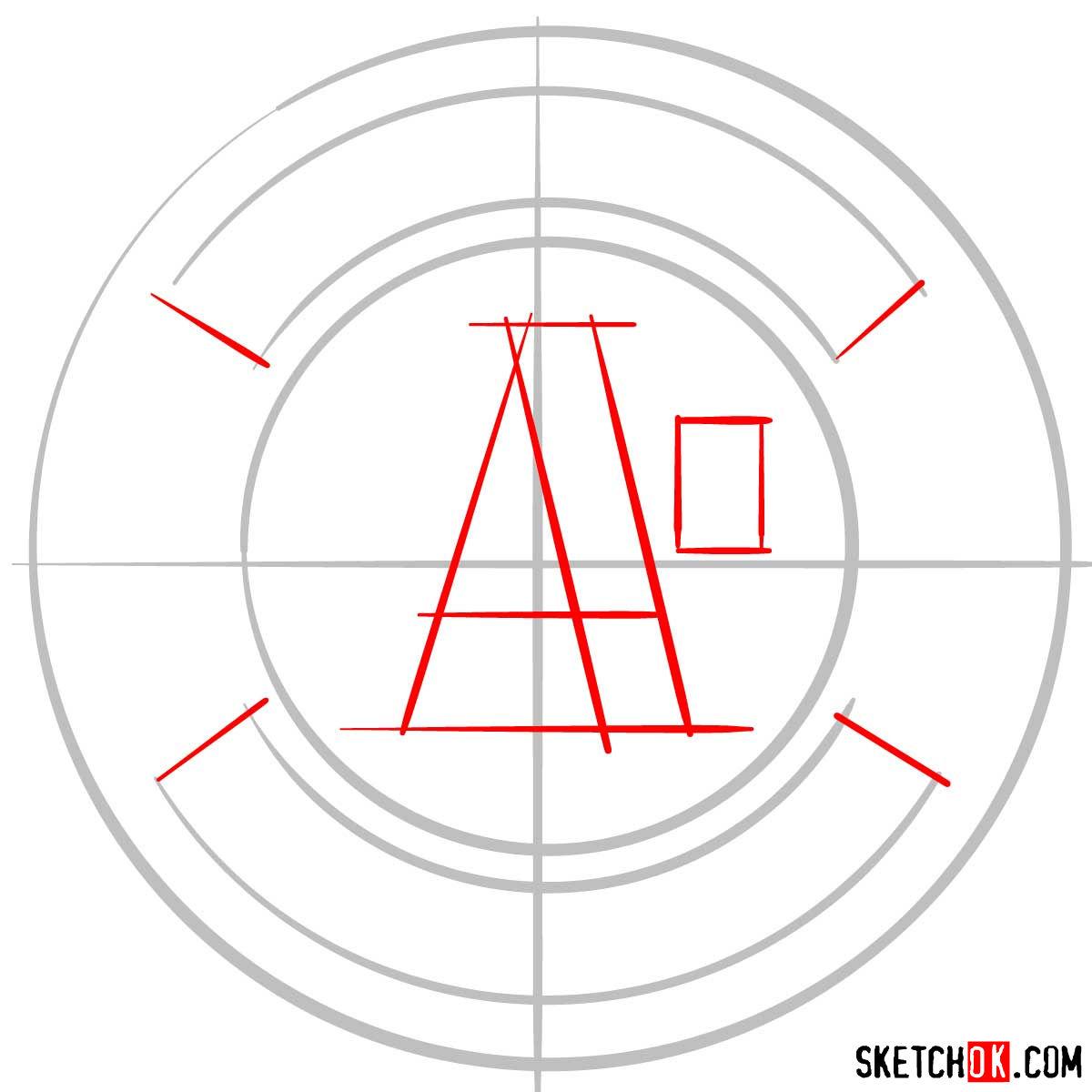 How to draw Oakland Athletics logo | MLB logos - step 02