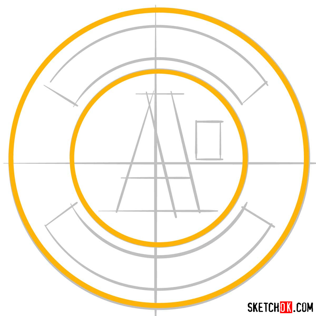 How to draw Oakland Athletics logo | MLB logos - step 03